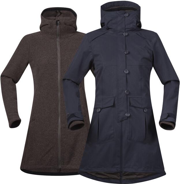 Bergans W's Bjerke 3in1 Coat Outer:Dark Navy/Inner:Cocoa Mel